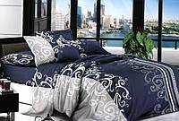 Двуспальный комплект постельного белья Сатин 175х215 см.