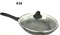 Сковорода с крышкой 28 см. BENSON BN-493