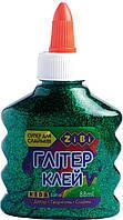 Клей ГЛІТЕР зелений на PVA-основі, прозорий, 88 мл