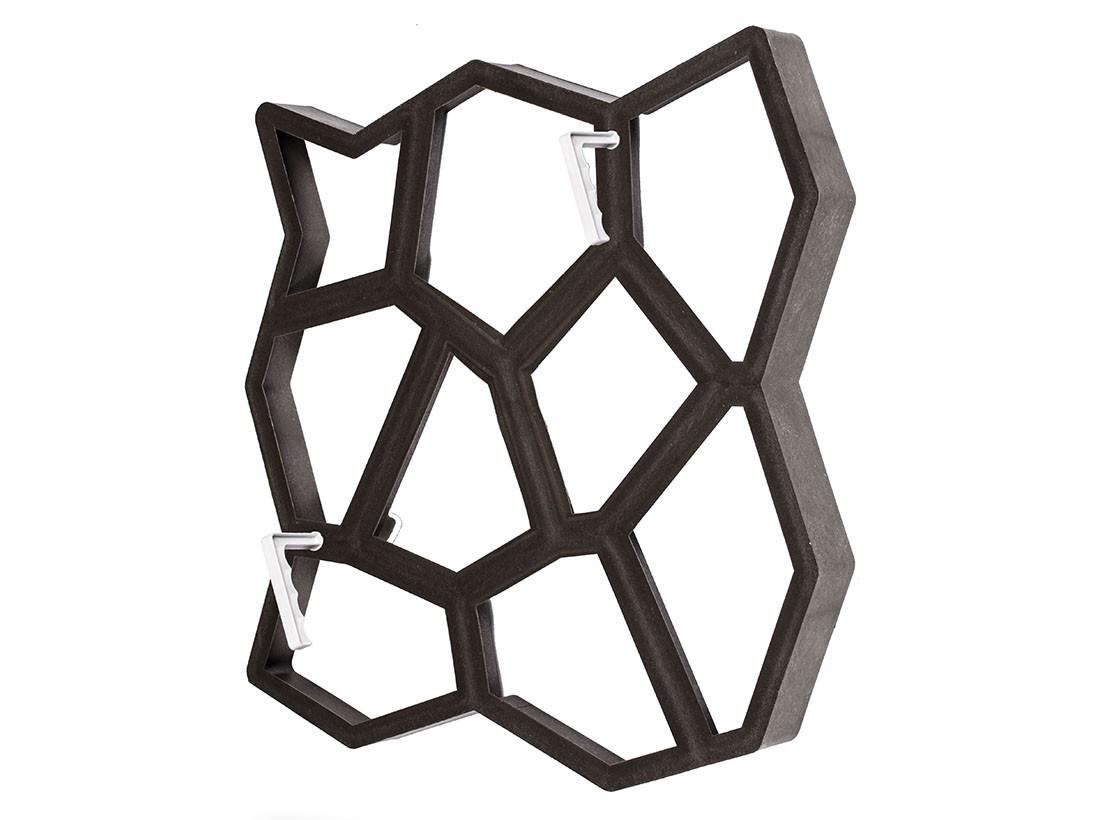Форма для изготовления садовых дорожек Hormusend 60x60 см Замковый камень с ручками