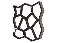 Форма для изготовления садовых дорожек Hormusend 60x60 см Замковый камень с ручками, фото 1