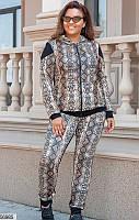 Спортивный костюм женский весна-осень турецкая двунить 48-54 размеров