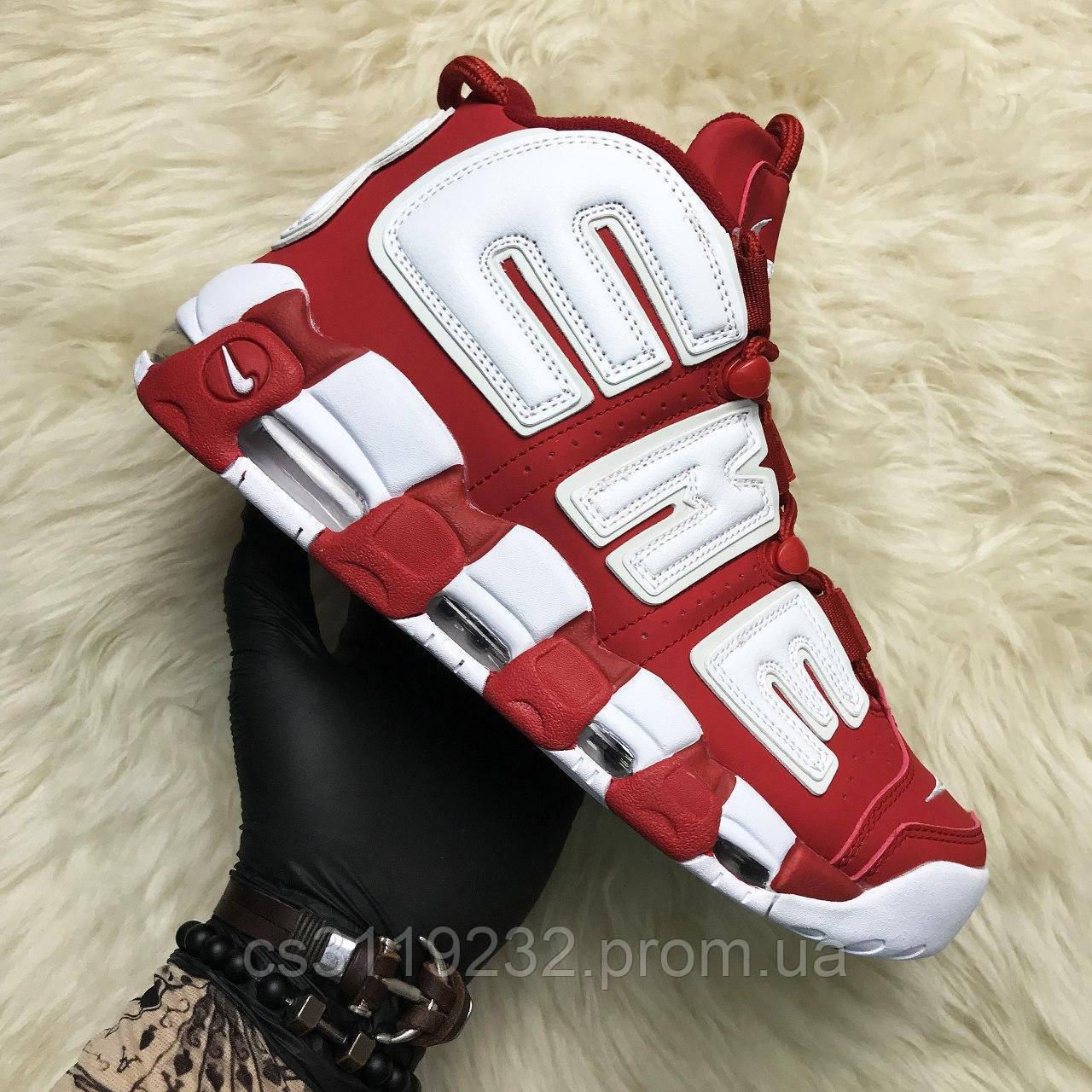 Женские кроссовки Nike Air More Uptempo Red Supreme (красный)
