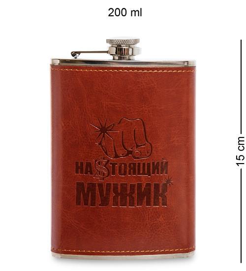 """Фляга """"Настоящий мужик"""" 200 мл 165256"""