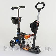 Самокат-беговел 5в1 Best Scooter с родительской ручкой, светящиеся колеса 21500, фото 2