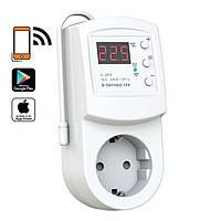 Терморегулятор Wi-Fi в розетку Terneo rzx, +5...+35 С, 220-230 V AC