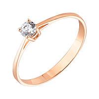 Золотое кольцо Единство с кристаллом Swarovski 000053305 16.5 размер