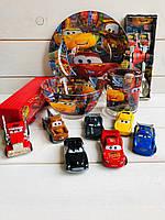 """Набор детской посуды 5 предметов и набор машинок  """" Маквин """""""