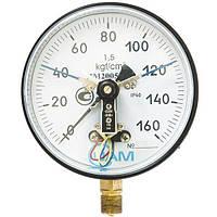 Манометр электроконтактный ДМ-2005-У2 0...1 кгс/см2 кл.т. 1,5
