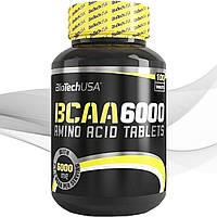 Незаменимые аминокислоты BioTech BCAA 6000 100 таб
