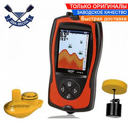 Цветной эхолот Lucky FF1108-1C Fish Finder проводной и беспроводной датчики и встроенный аккумулятор в голове