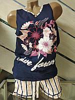 Жіноча піжама майка+шорти Secret Pink Туреччина бавовна 46-48р