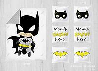 Набор сатиновых панелей Бэтмен 100*80 + 33*33(6)