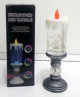 """Светодиодная USB лампа """"СВЕЧА"""" с блестками  Sequinned LED Candle"""