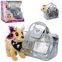 Собачка Bambi Кикки — это замечательная плюшевая игрушка  в соответственно оформленной под нее сумочку, фото 1