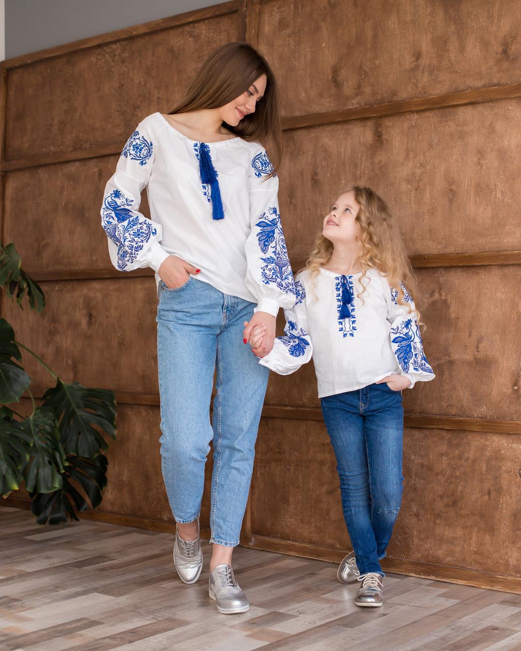 Парні вишиванки для мами та дочки Жарптиця