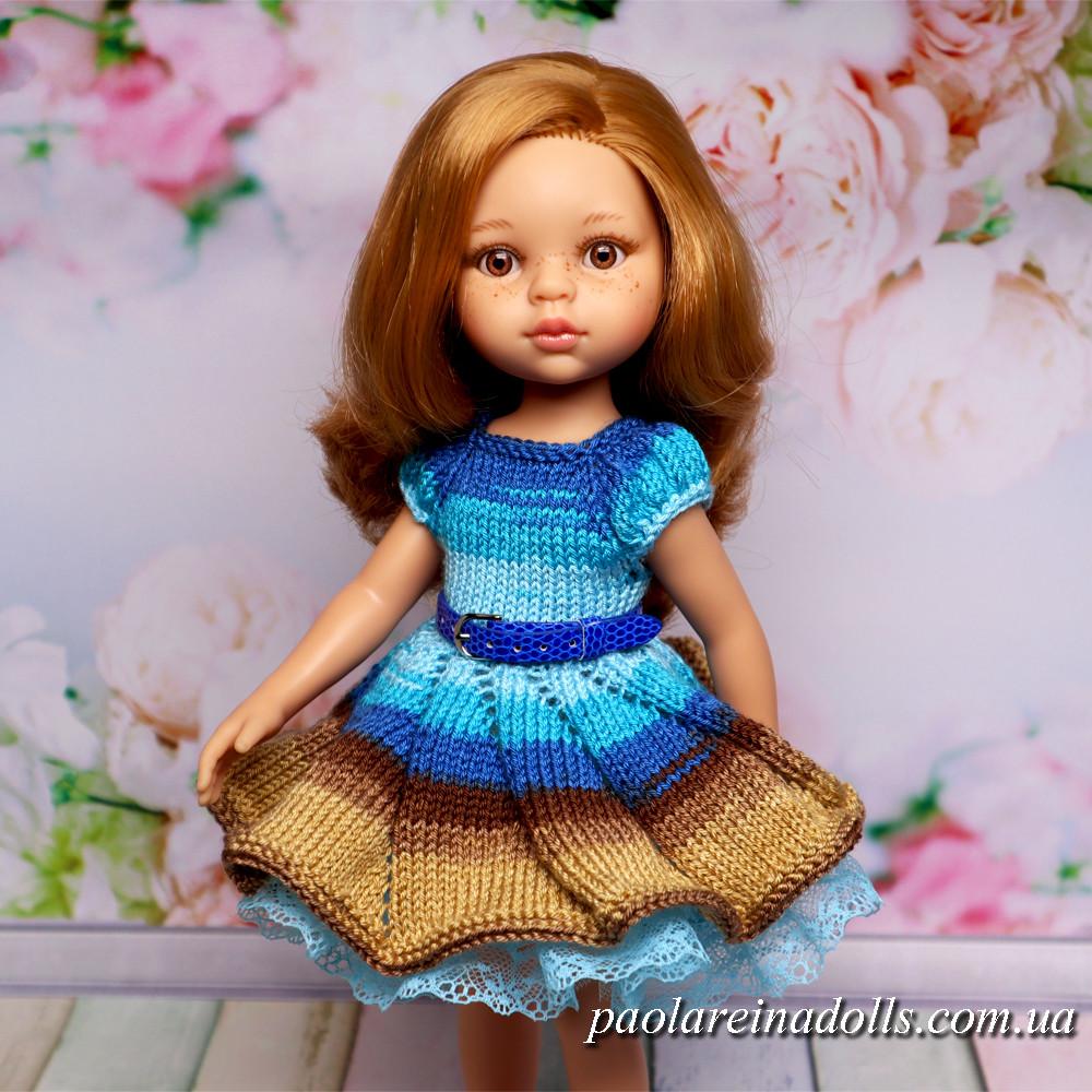"""Платье """"Лазурный берег"""" для кукол Паола Рейна"""