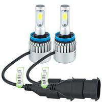 Лампы светодиодные автомобильные Partol S2 H11 PGJ19-2 12В 72Вт 8000лм