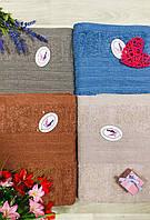 Полотенце махровое банное размер 70*140 вязанка микс
