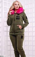 Спортивный костюм женский стильный осень-зима турецкая трехнитка с начесом 48-54р.