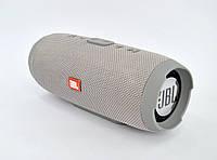 Портативная колонка JBL Charge 3 (Bluetooth, FM, USB, 2 динамика, Soft touch) Silver