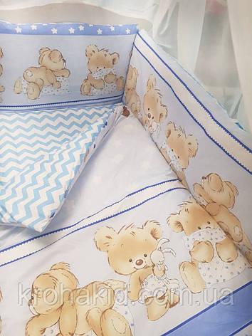 """Набор постельного белья в детскую кроватку/ манеж """"Медвежата"""" - Бортики / Защита в кроватку, фото 2"""