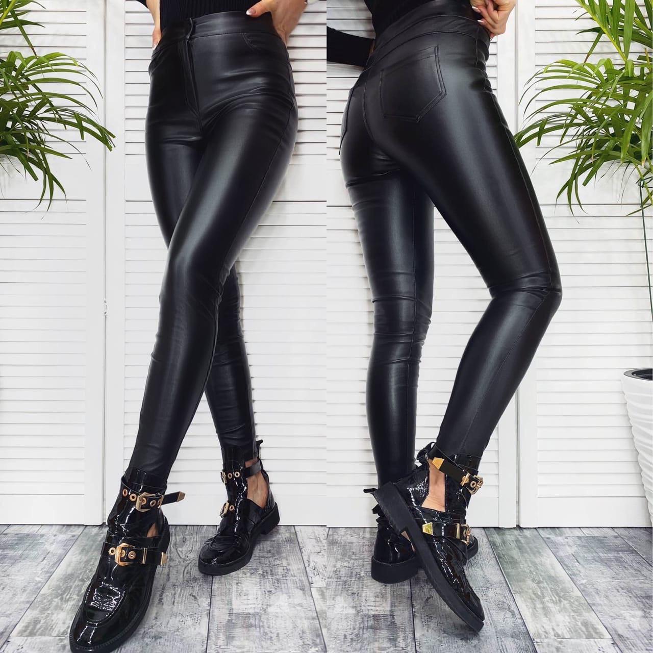 Женские брюки из эко-кожи