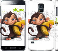"Чехол на Samsung Galaxy S5 Duos SM G900FD Мартышка с бананом ""1245c-62"""