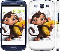 "Чехол на Samsung Galaxy S3 Duos I9300i Мартышка с бананом ""1245c-50"""