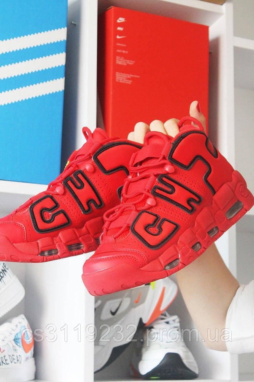 Мужские кроссовки Nike Air More Uptempo Red Chicago Bulls (красный)