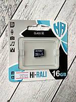 Карта памяти Micro SD 16Gb Hi-Rali Class10 без ад. (UHS-1)