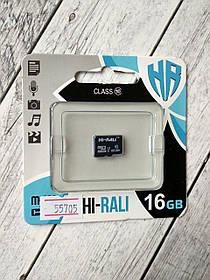 Карта памяти Micro SD 16Gb Hi-Rali Class 10 без ад. (UHS-1)