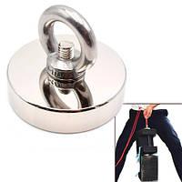 Магнит неодимовый поисковый с кольцом 60x15мм N52 до 112кг