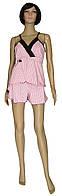 NEW! Женские пижамы с кружевом - майка и шорты серии Charm стрейч-коттон ТМ УКРТРИКОТАЖ!