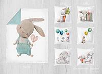Набор сатиновых панелей Кролик 100*80 + 33*33(6)
