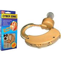 Заушный безпроводной слуховой аппарат CYBER SONIC 6 уровней громкости + кейс для хранения