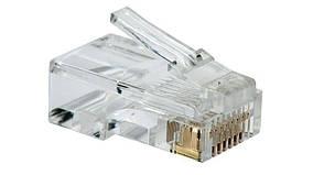 Обжимка тестер коннектор RJ45 ABX набор сетивика 8P8C Cat5 Cat5e Cat6 100 шт