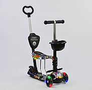 Дитячий триколісний самокат-беговел Best Scooter 5в1 колеса PU зі світлом 34760