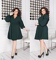 Нежное платье клеш до колена размеры батал 48-62 арт 833