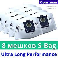 Мешки мусорные 8 штук Philips FC8027/01 s bag Ultra Long Performance пакеты на пылесос для сухой уборки Филипс, фото 1