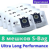 Мешки мусорные 8 штук Philips FC8027/01 s bag Ultra Long Performance пакеты на пылесос для сухой уборки Филипс