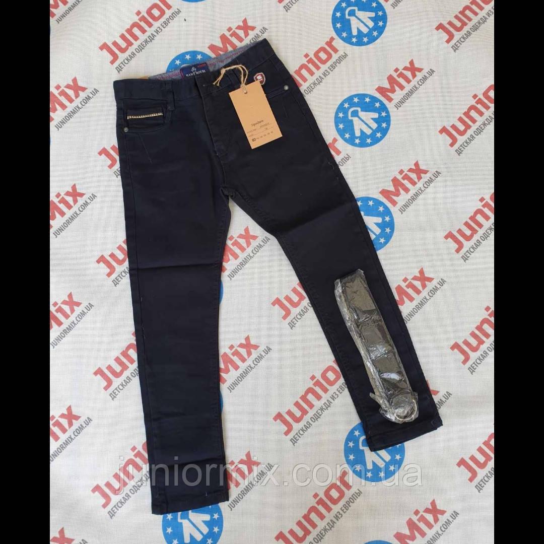 Подростковые котоновые брюки чёрного и синего цвета для мальчика H&H ОПТОМ