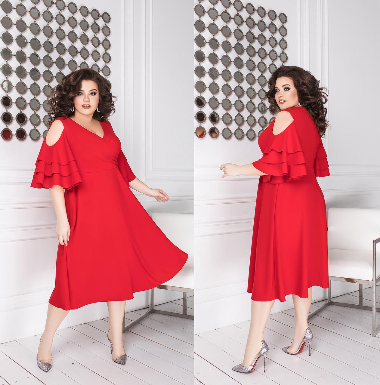 Женское платье большого размера.Размеры:48-50,52-54,56-58.+Цвета