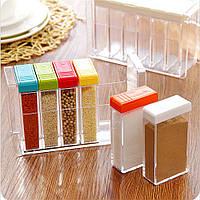 Набор баночек для специй   Кухонная подставка для хранения приправ и специй Seasoning Six Piece Set!!!