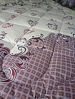 Одеяло из натуральной овечьей шерсти двуспальное теплое из натуральной шерсти, плотность 630г/м2, 180x220см.