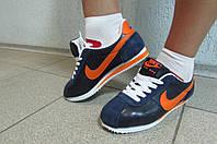 Кроссовки женские Найк синие с оранжевым (8208-3)  код 584А