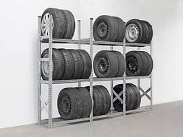 Стеллаж металлический для хранения  до  36 колес