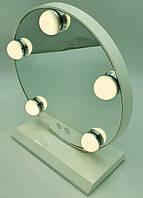 Зеркало для макияжа LED Lamp Mirror JX-526 с  подсветкой от USB на подставке