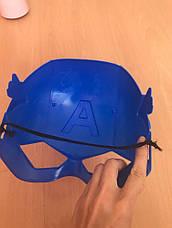 Маска Капитан Америка Марвел для детей, пластиковая. Косплей Мстители, фото 3
