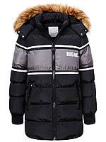 Куртка зимняя на мальчика удлиненная детская подростковая Glo-story рост 134-170